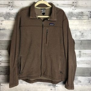 Patagonia Men's full zip sweater (2XL)
